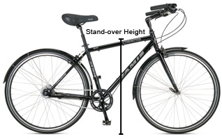bicycle stand over height